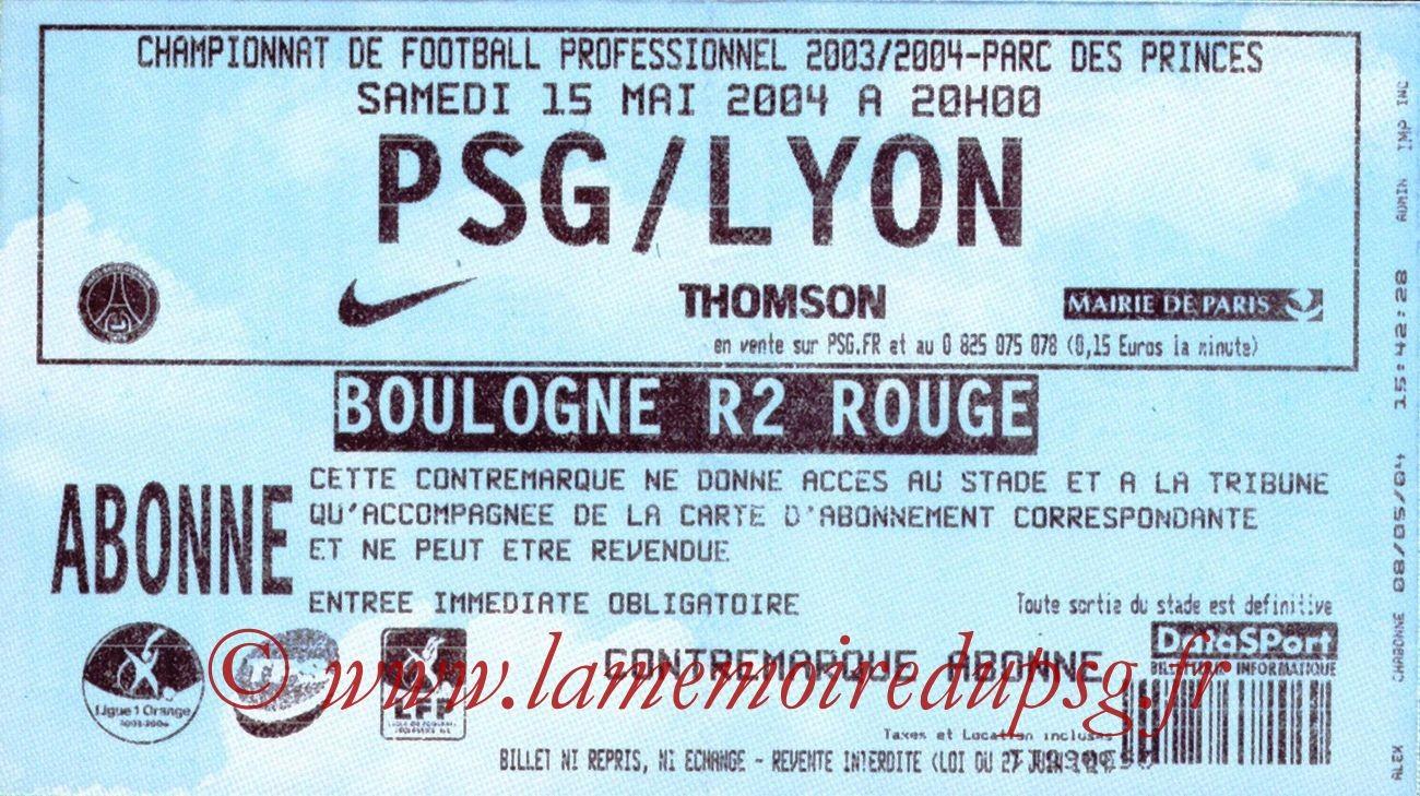 2004-05-15  PSG-Lyon (37ème L1)
