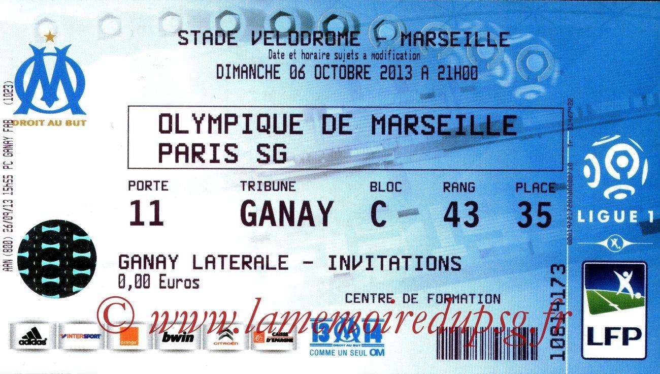 2013-10-06  Marseille-PSG (9ème L1)