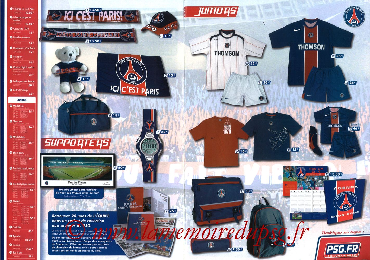 Catalogue PSG - 2005-06b - Pages 06 et 07