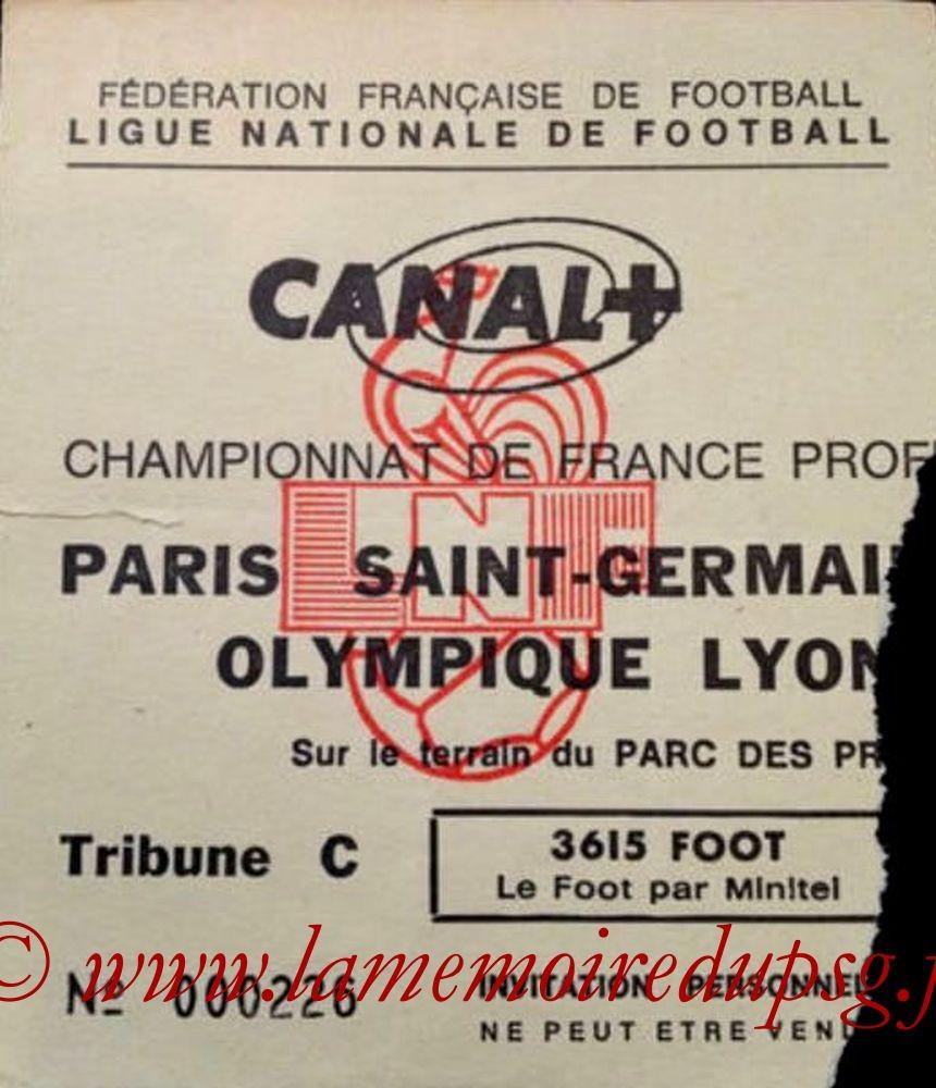 1992-02-02  PSG-Lyon (27ème D1, Invitation)