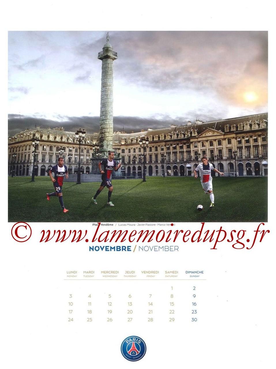 Calendrier PSG 2014 - Page 11 - Place Vendôme