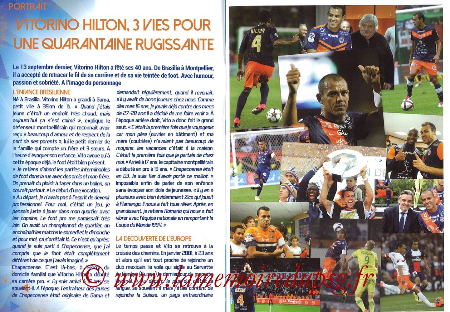 2017-09-23  Montpellier-PSG (7ème L1, L'Echo de la Mosson N°4) - Pages 02 et 03