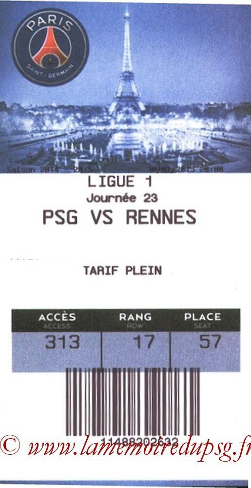 2015-01-30  PSG-Rennes (23ème L1, E- ticket)