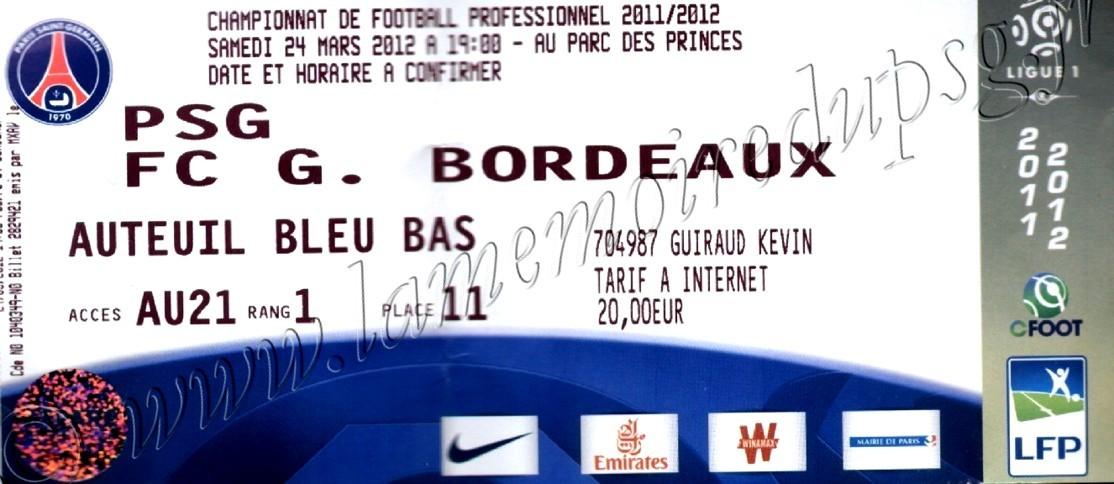 2012-03-25  PSG-Bordeaux (29ème L1)