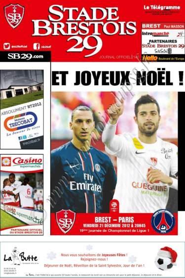 2012-12-21  Brest-PSG (19ème L1, Stade Brestois 29 N°146)