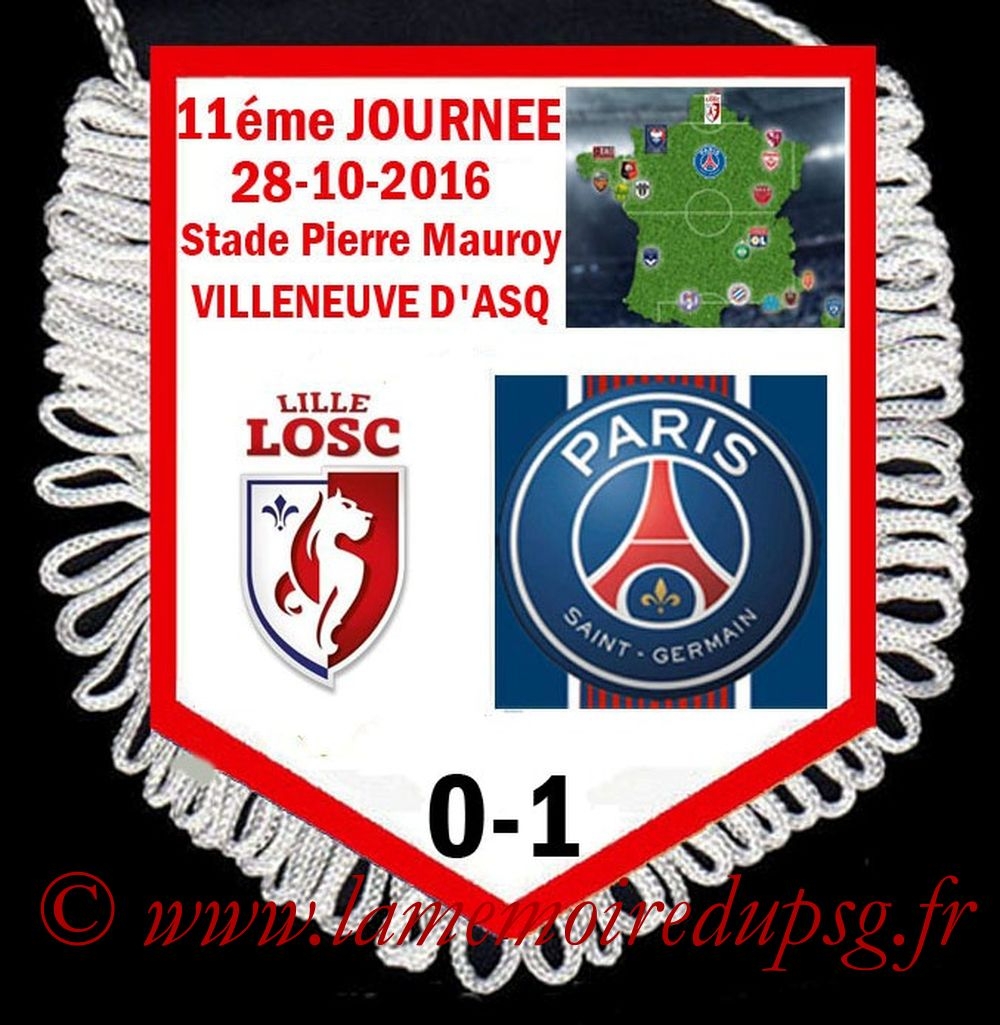 2016-10-28  Lille-PSG (11ème L1)