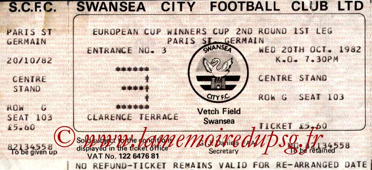1982-10-20  Swansea-PSG (8ème Aller C2)