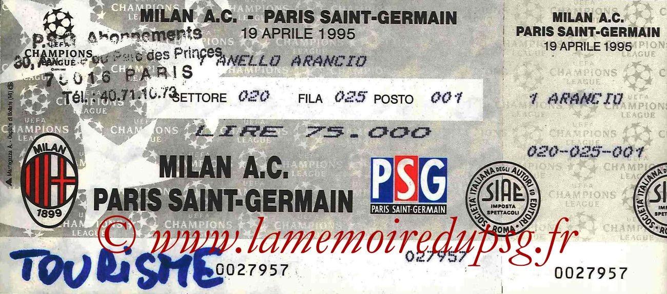 1995-04-19  Milan AC-PSG (Demi-Finale Retour C1, Entier)