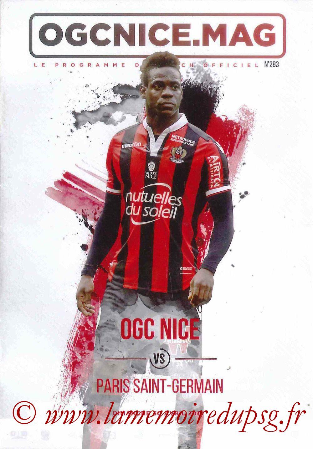 2017-04-30  Nice-PSG (35ème L1, OGC Nice Mag N°283)