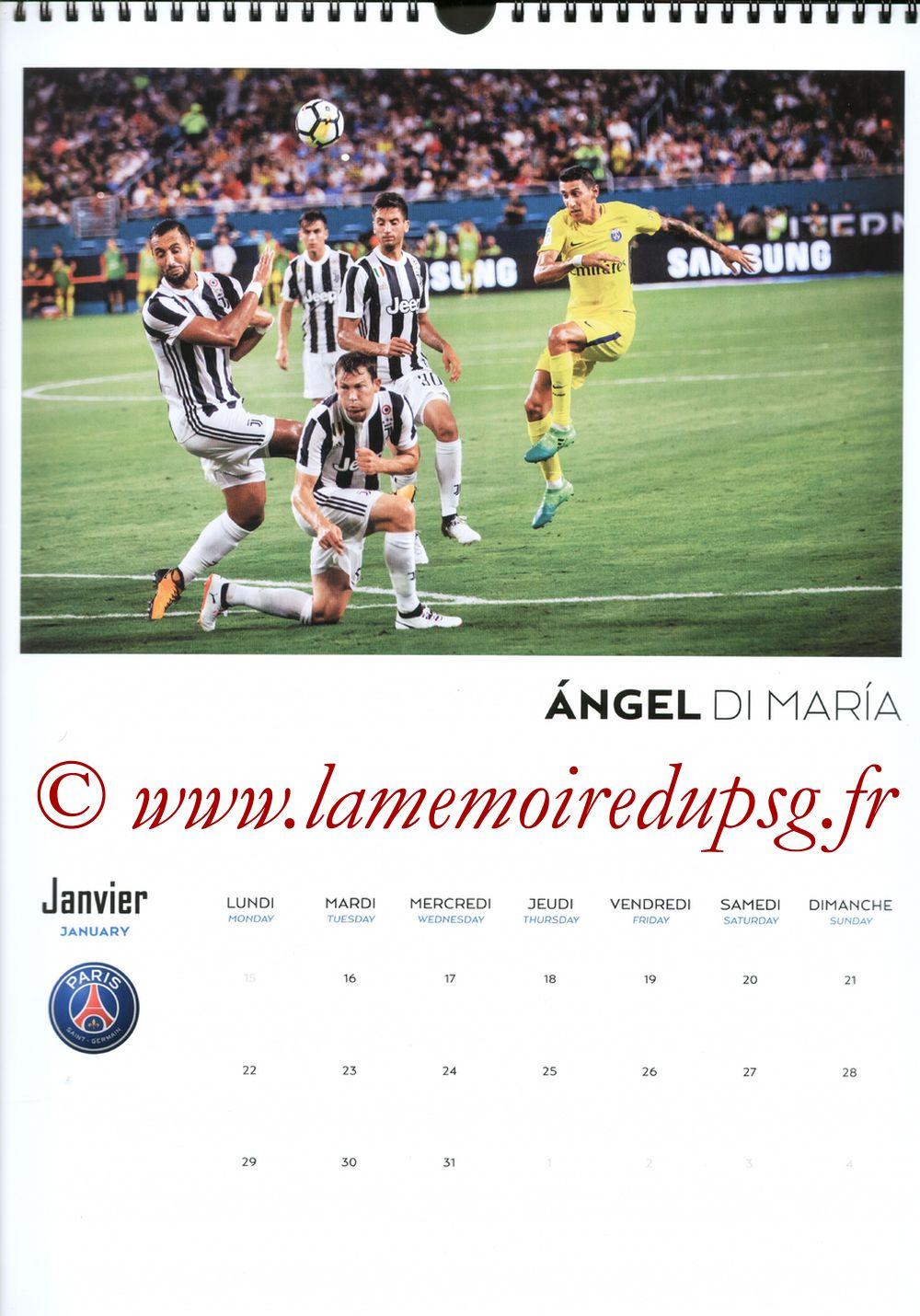Calendrier PSG 2018 - Page 02 - Angel DI MARIA