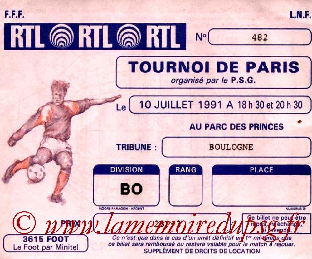 1991-07-10  PSG-Flamengo (Demi-Finale Tournoi de Paris)