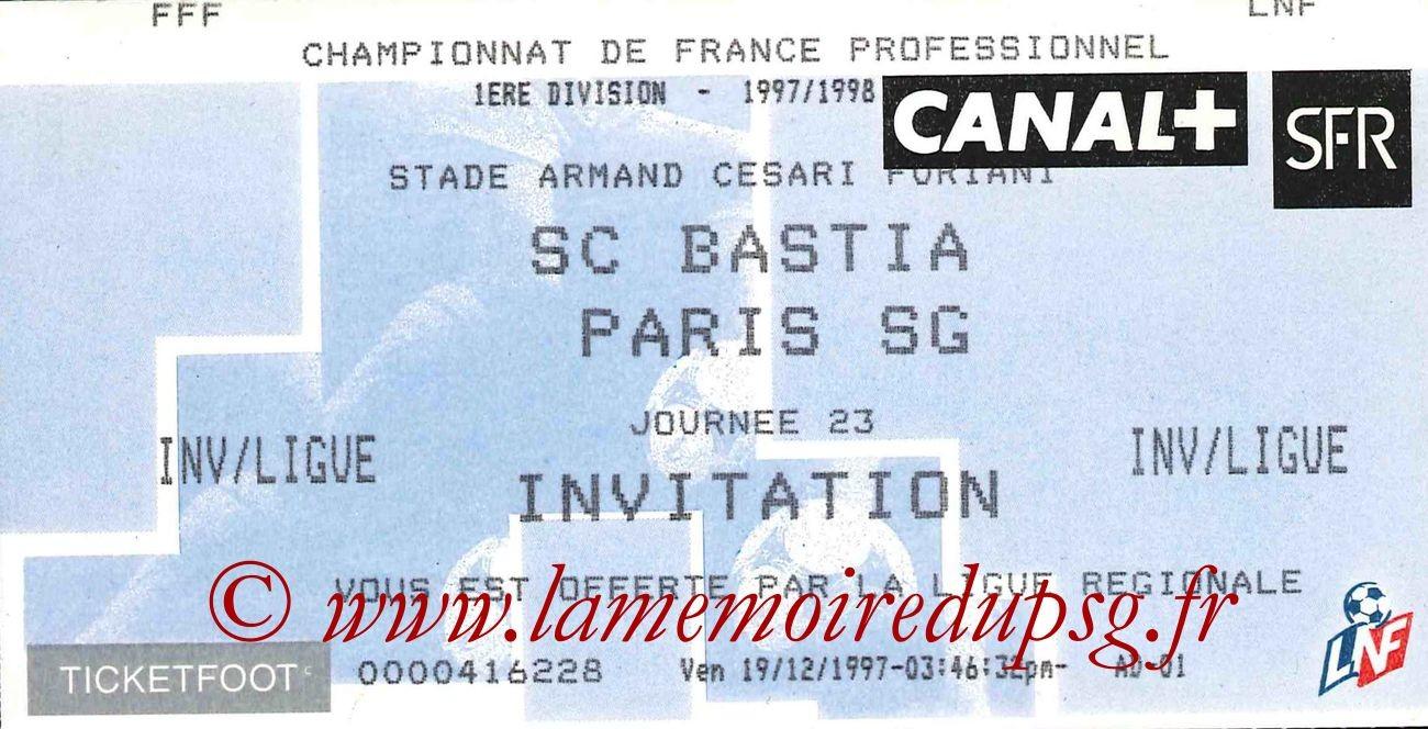1998-01-21  Bastia-PSG (23ème D1)