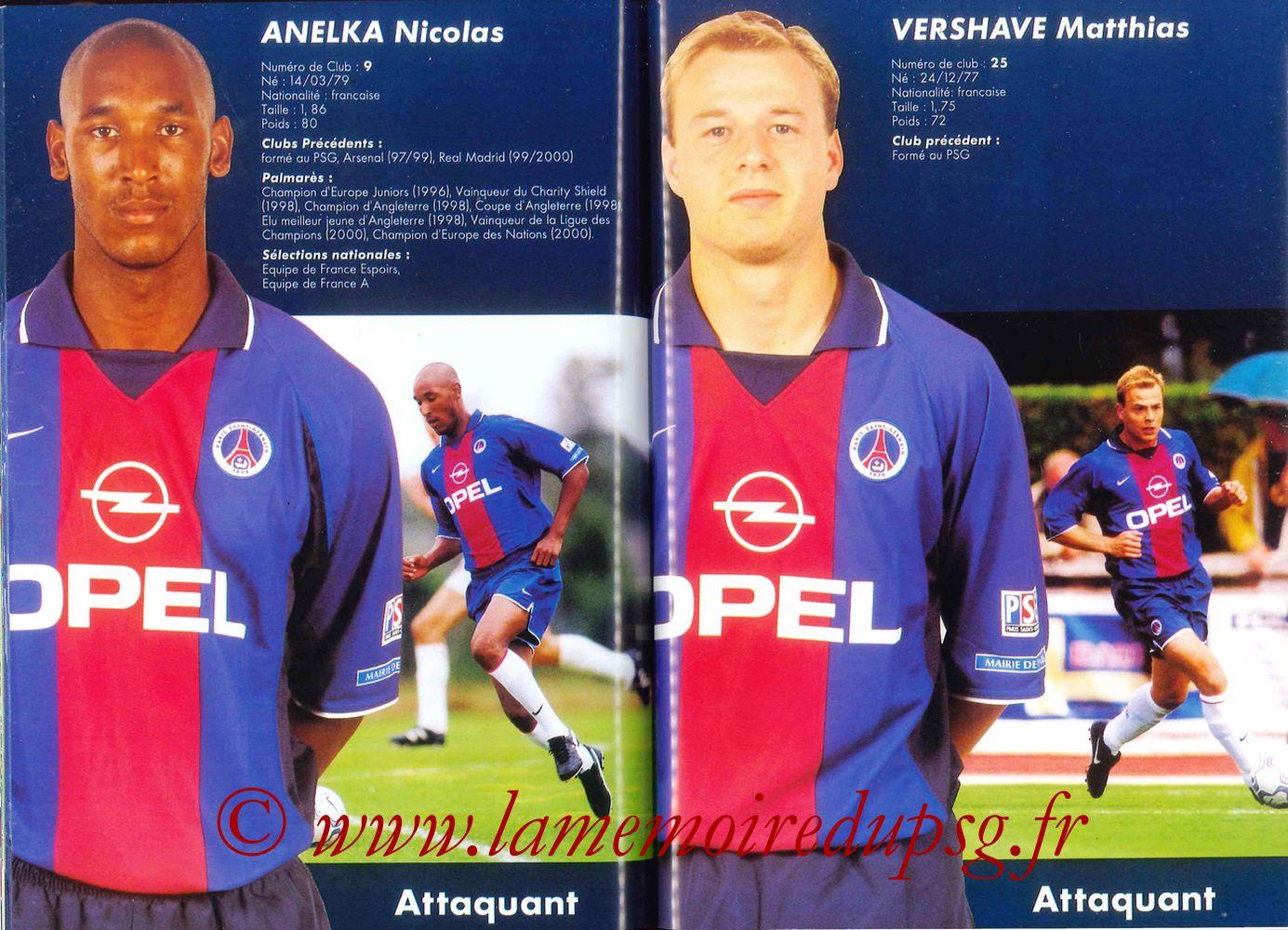 2000-01 - Guide de la Saison PSG - Pages 60 et 61