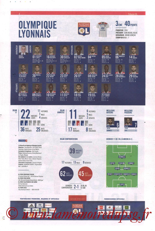 2019-02-03  Lyon-PSG (23ème L1, La Tribune OL N°270) - Page 04