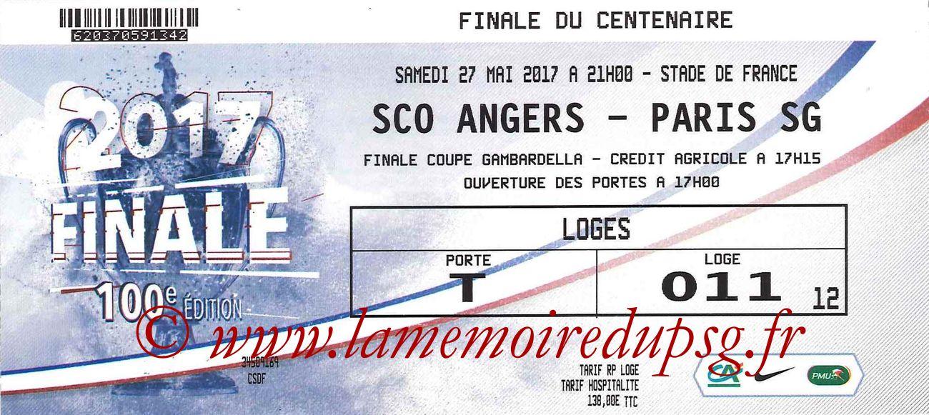 22017-05-27  Angers-PSG (Finale CF à Saint-Denis)