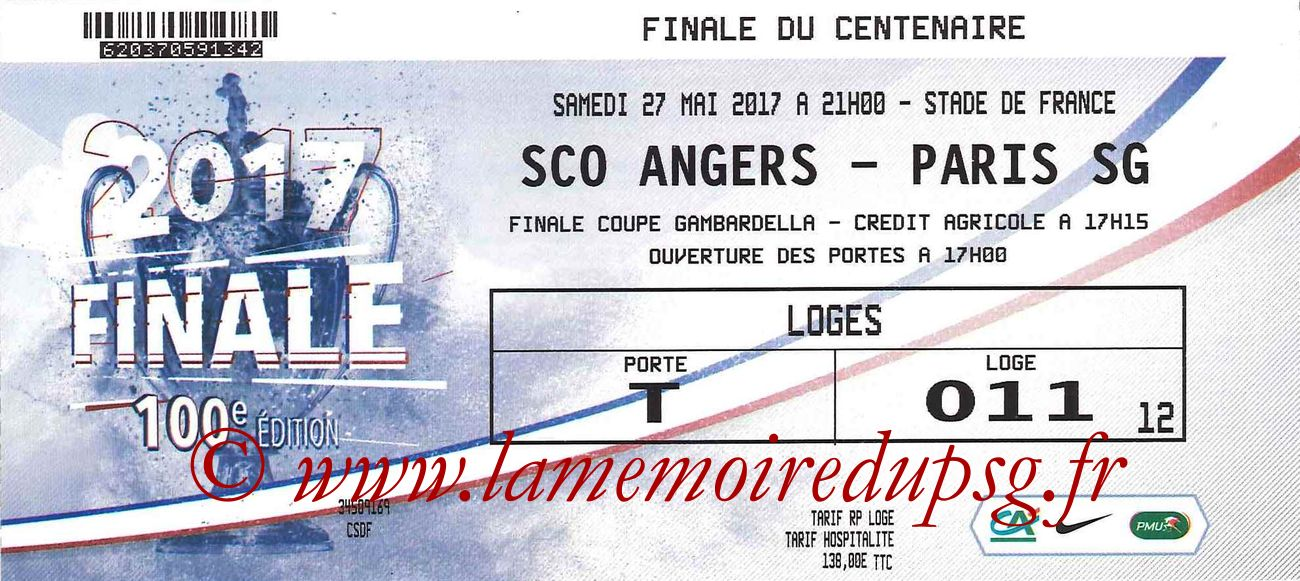 2017-05-27  Angers-PSG (Finale CF à Saint-Denis)