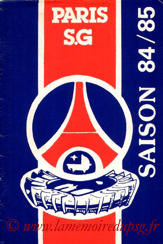 1984-85 - Guide de la Saison PSG