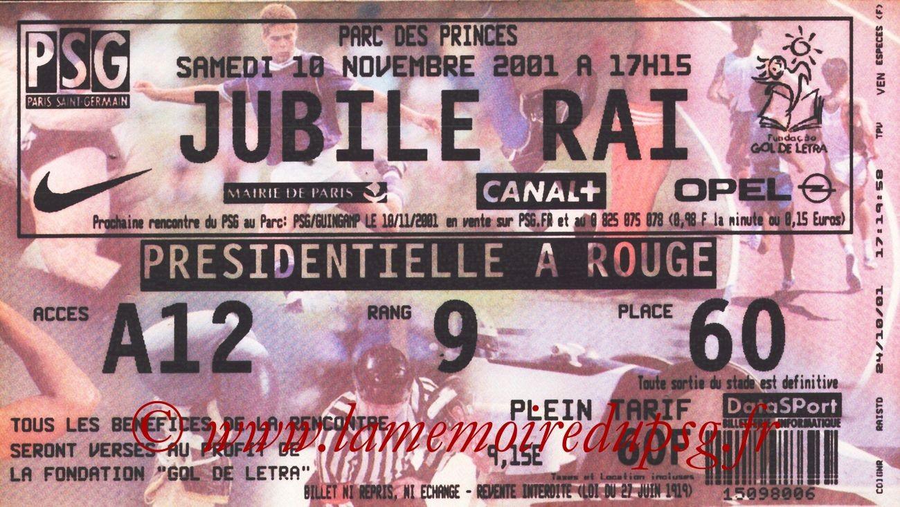 2001-11-15  Jubilé Rai au Parc des Princes