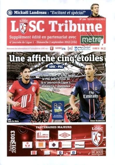 2012-09-02  Lille-PSG (4ème L1, LOSC Tribune N°154)