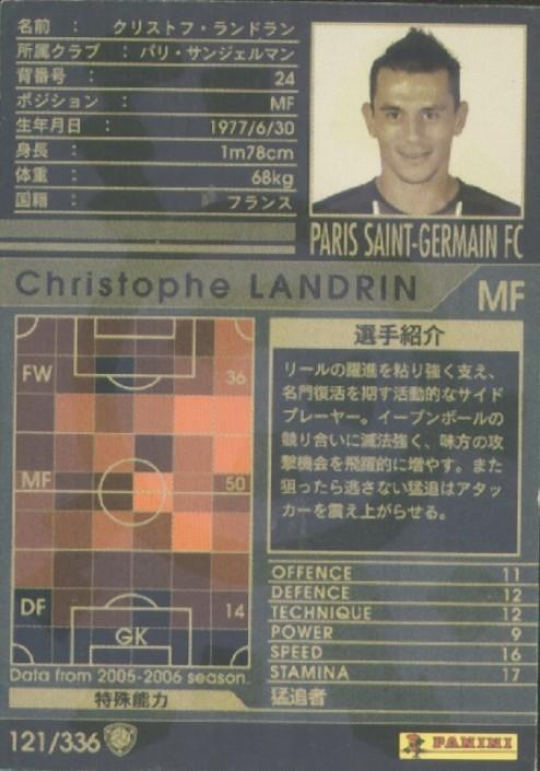 N° 121 - Christophe LANDRIN (Verso)