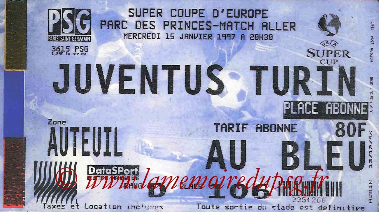 1997-01-15  PSG-Juventus Turin (Super Coupe Aller)