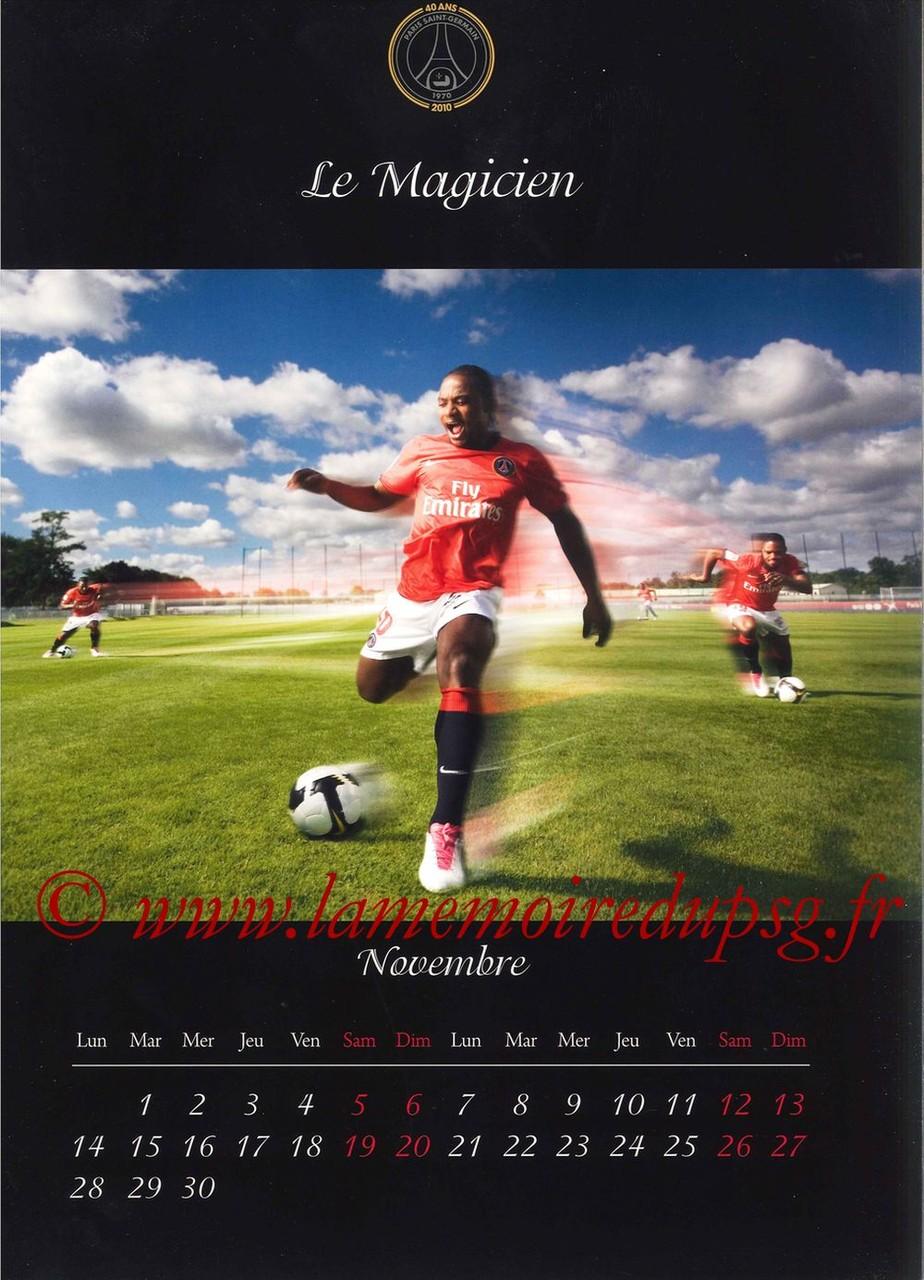 Calendrier PSG 2011 - Page 21 - Le Magicien