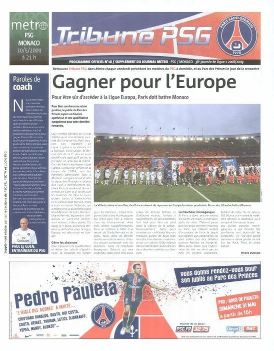 2009-05-30  PSG-Monaco (38ème L1, Tribune PSG N°18)