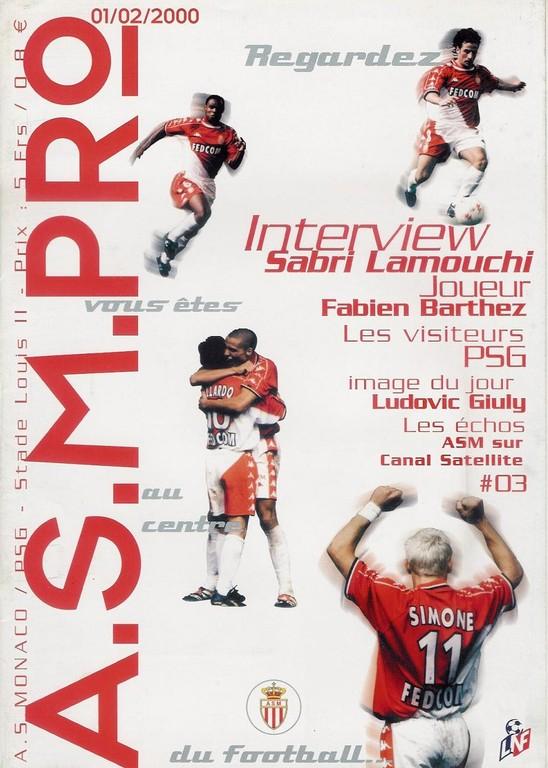 2000-02-01  Monaco-PSG (24ème D1, ASM Pro N°3)