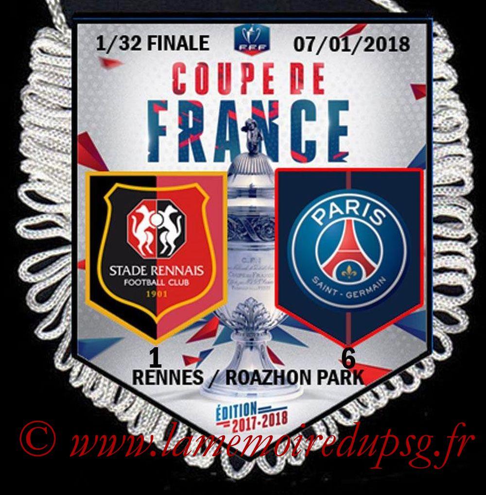 2018-01-07  Rennes-PSG (32ème CF)