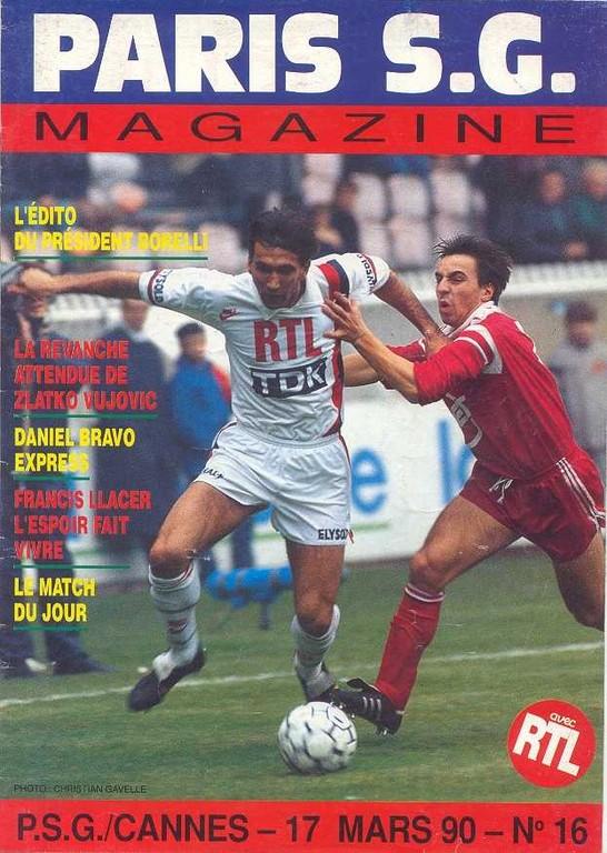 1990-03-17  PSG-Cannes (29ème D1, Paris SG Magazine N°16)