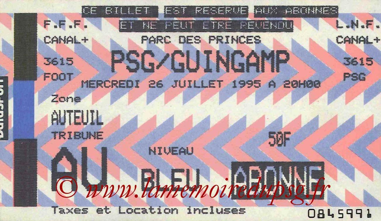 1995-07-26  PSG-Guingamp (2ème D1)