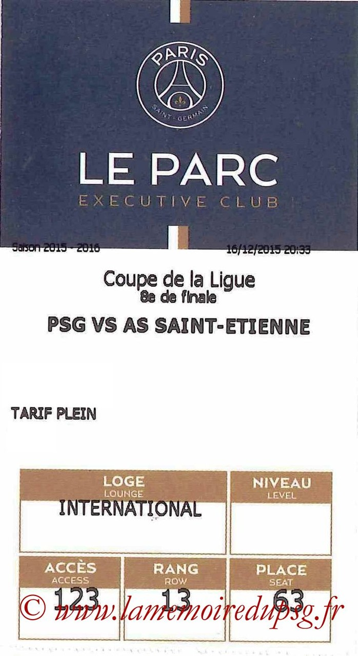 2015-12-16  PSG-Saint Etienne (8ème CL, E-ticket Executive club)
