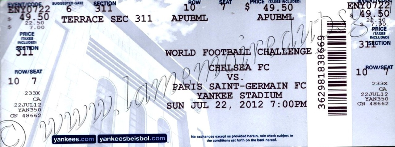 2012-07-22  Chelsea-PSG (Amical à New York)