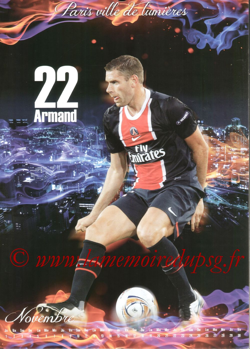 Calendrier PSG 2012bis - Page 11 - Sylvain ARMAND