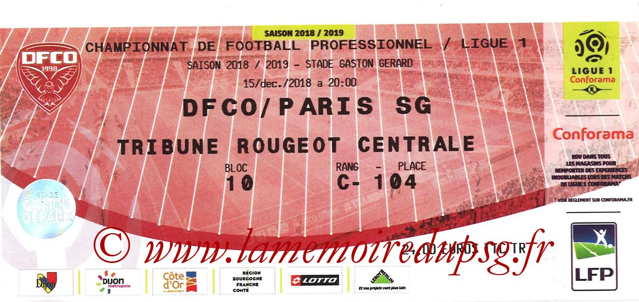 2019-03-12  Dijon-PSG (18ème L1 en retard)