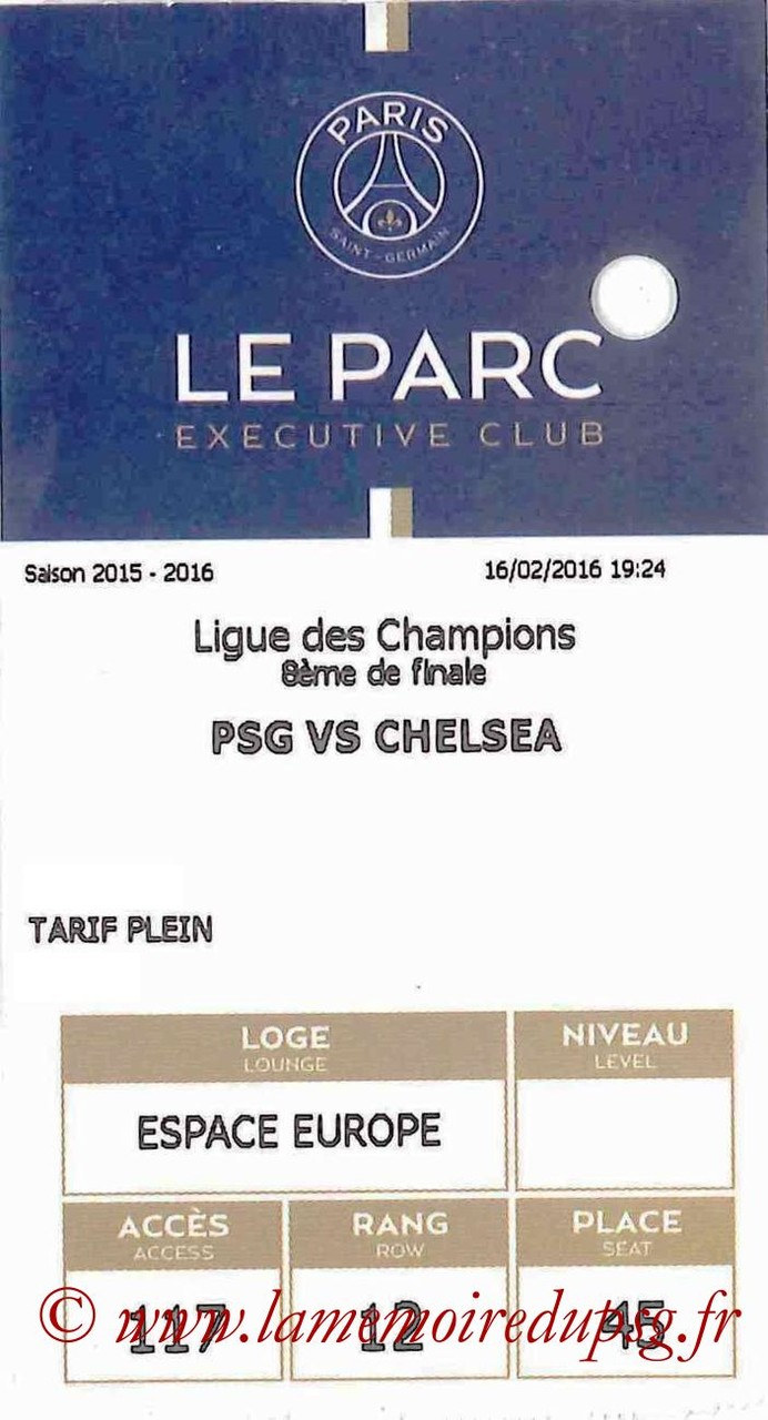2016-02-17  PSG-Chelsea (8ème Aller C1, E-ticket Executive club)