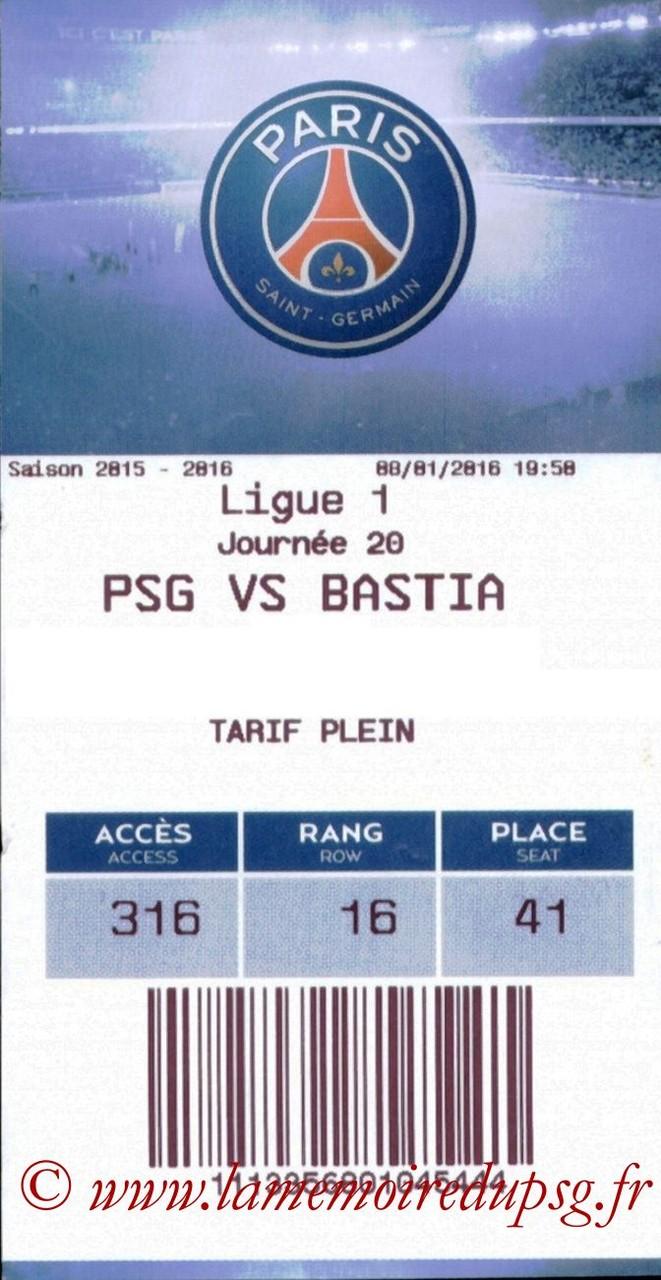 2016-01-08  PSG-Bastia (20ème L1, E-ticket)