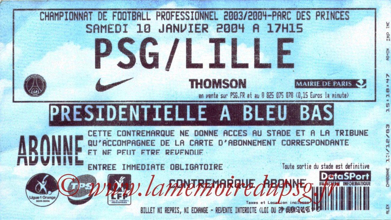2004-01-10   PSG-Lille (20ème L1)