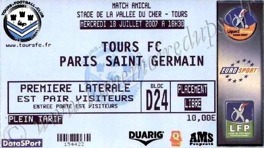2007-07-18  Tours FC-PSG (Amical à Tours)