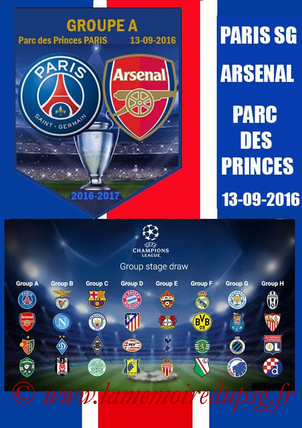 2016-09-13  PSG-Arsenal (1ère Poule C1, Programme pirate 2)