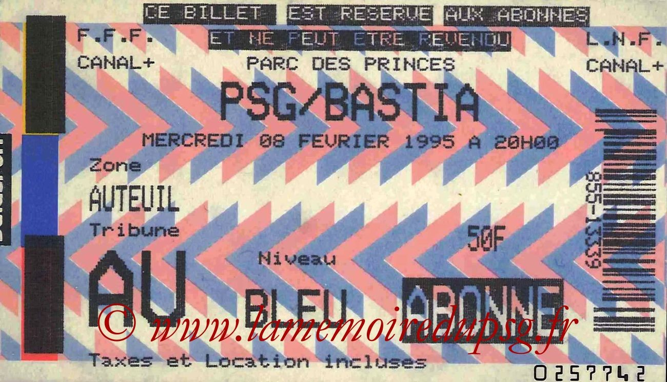 1995-02-08  PSG-Bastia (25ème D1)