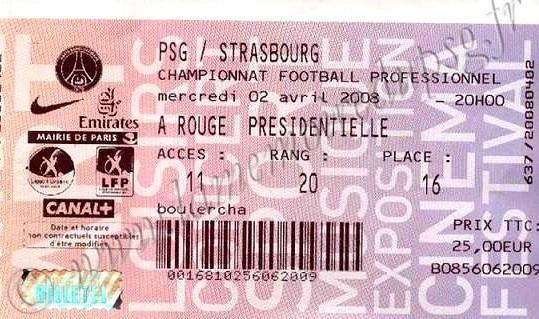 2008-04-02  PSG-Strasbourg (31ème L1, Billetel)
