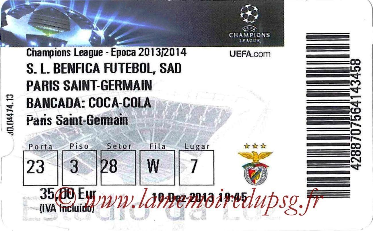 2013-12-10  Benfica-PSG (6ème Poule C1)