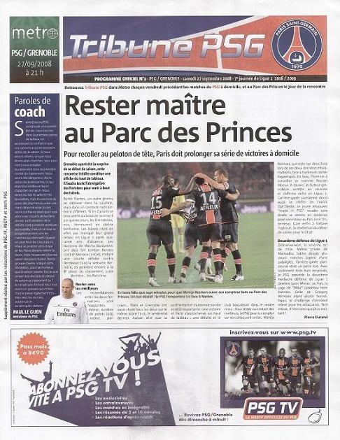 2008-09-27  PSG-Grenoble (7ème L1, Tribune PSG N°2)