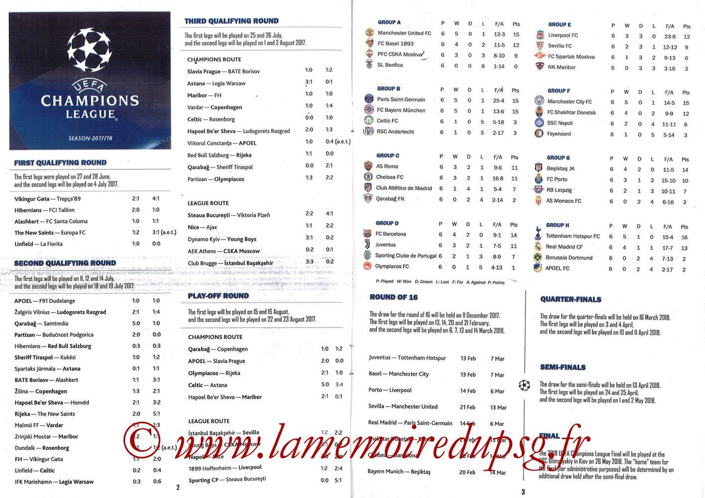 2018-02-14  Real Madrid-PSG (8ème C1 aller, Programme pirate) - Pages 02 et 03