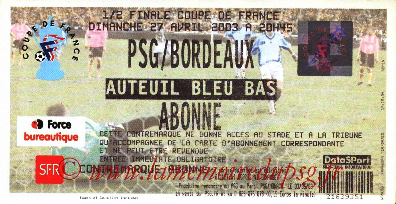 2003-04-27  PSG-Bordeaux (Demi-finale CF)