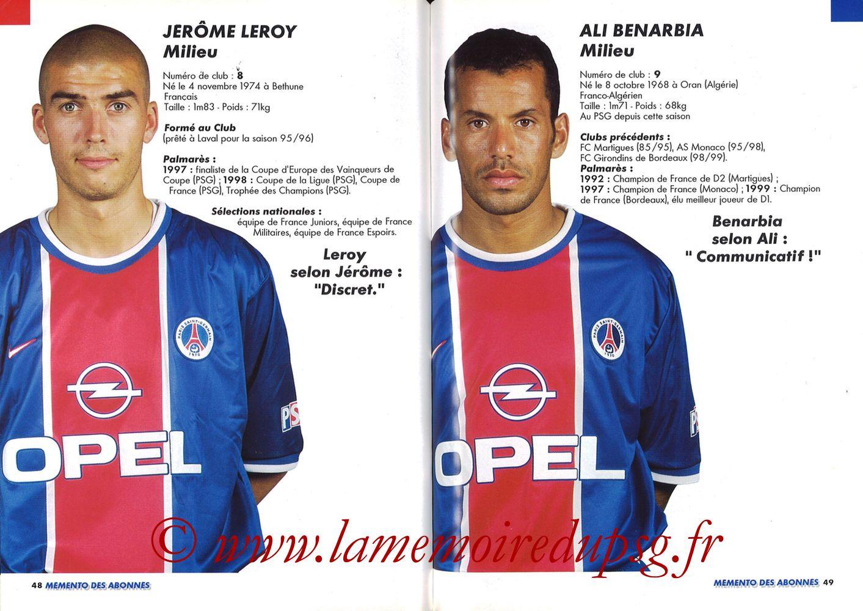 1999-00 - Guide de la Saison PSG - Pages 48 et 49