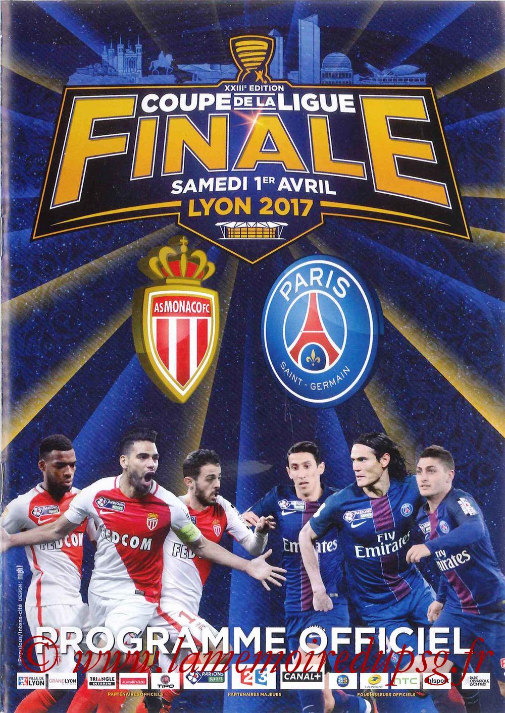 2017-04-01  Monaco-PSG (Finale CL à Lyon, Programme officiel)
