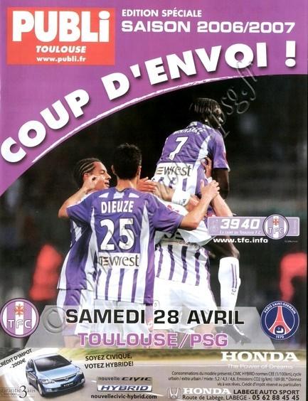 2007-04-28  Toulouse-PSG (34ème L1, Coup d'envoi!!)