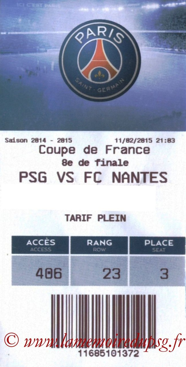 2015-02-11  PSG-Nantes (8ème CF, E-ticket)